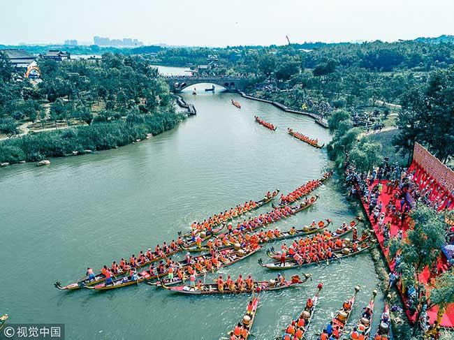 安徽池州龙舟比赛