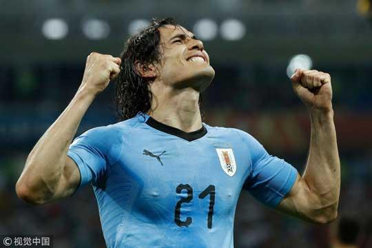 世界杯-卡瓦尼双响炮C罗哑火 乌拉圭2-1葡萄牙