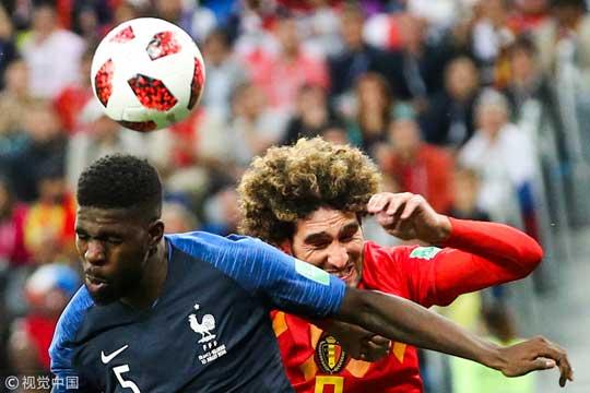 世界杯-格子献助攻乌姆蒂蒂破门 法国1-0比利时