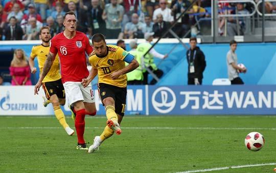 [高清组图]阿扎尔单刀破门 比利时胜英格兰获季军