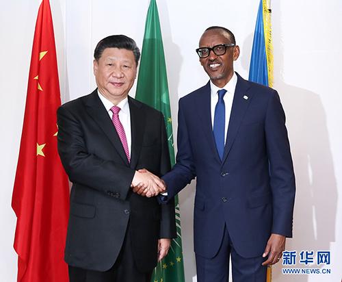 7月23日,国家主席习近平在基加利同卢旺达总统卡加梅举行会谈。 新华社记者 庞兴雷 摄
