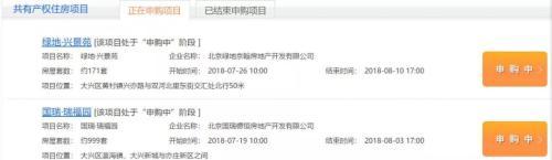 北京正在网申的共有产权房。图片来源:北京住建委官网