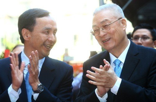 国民党19日党代会吴敦义朱立伦合体造势,洪秀柱也将出席。(图片来源:台湾《联合报》)