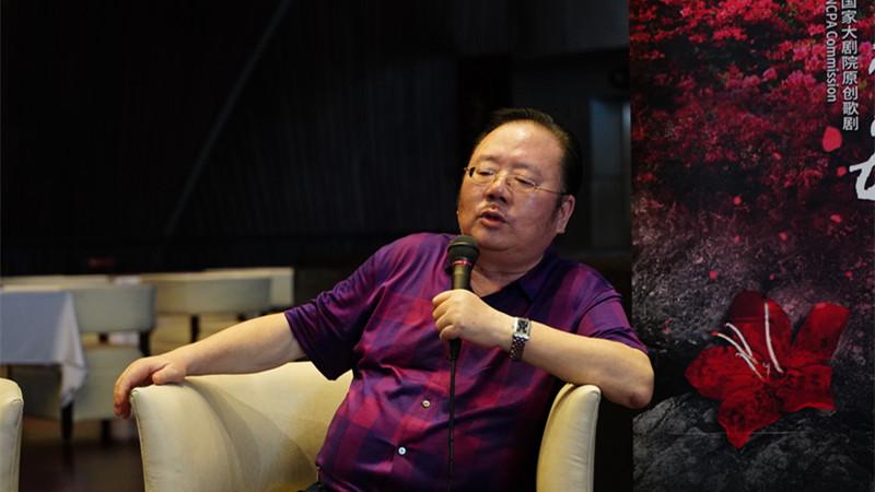 《金沙江畔》《方志敏》编剧冯柏铭 王小京/摄