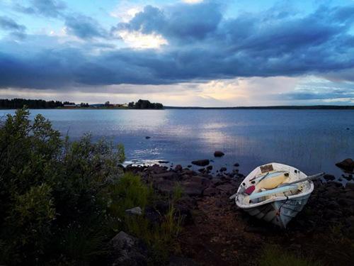 Lake located north of Rovaniemi, Finland