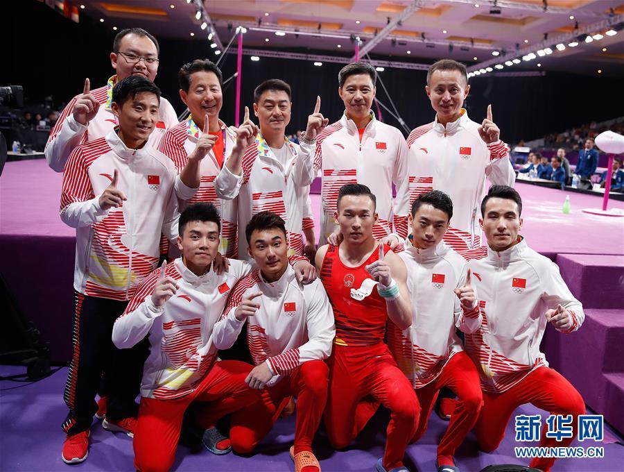 (亚运会·领奖台)(5)体操——男子团体颁奖仪式举行