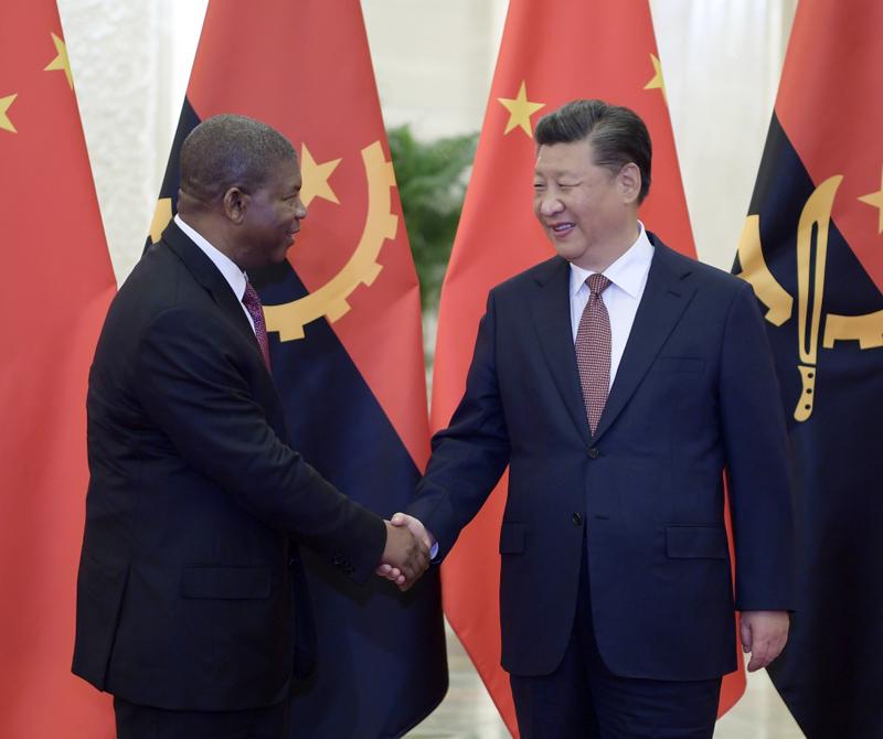 9月2日,国家主席习近平在北京人民大会堂会见安哥拉总统洛伦索。新华社记者 李学仁 摄