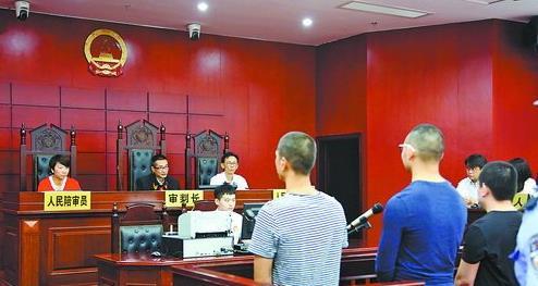 案件审判  湖里区法院对涉恶团伙进行审判。