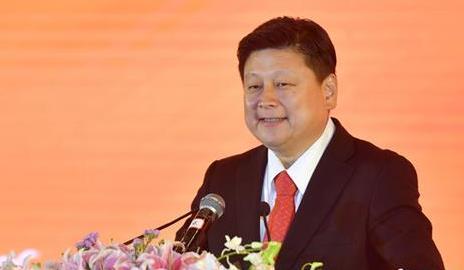 资料图:傅崐萁出席活动。中新社记者 吕明 摄