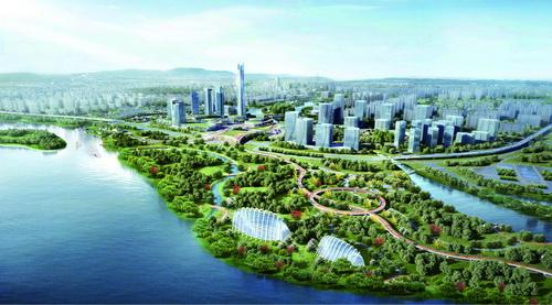 龙池滨海新城全面对接厦门,发展气势如虹(效果图)。