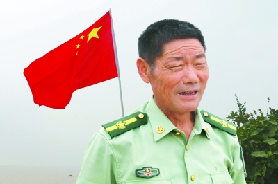 王继才生前照片 吴晨光摄 光明图片/视觉中国