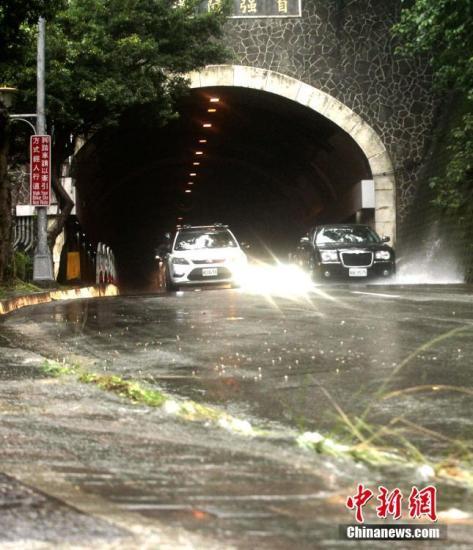 资料图:台北豪雨。中新社记者 刘舒凌 摄