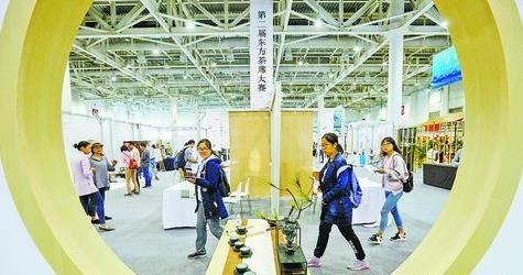 ▲第十届海峡两岸文博会同期举行第二届东方茶席大赛