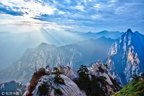 陕西渭南市,西岳华山,华山晨曦