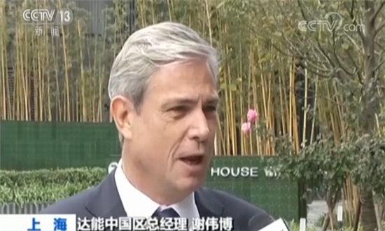 达能中国区总经理谢伟博