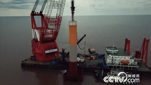 海上风电基础施工:打桩