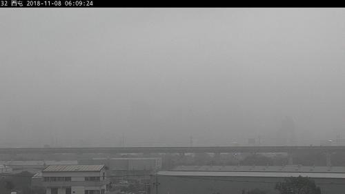 """资料图:台中空气污染。台湾《联合报》记者翻摄自台湾""""环保署""""空气质量监测网"""