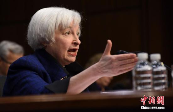 美联储前主席耶伦预计美联储明年再加息3至4次