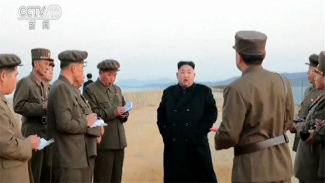 尖端战术武器试验成功?朝媒称金正恩亲临现场指导