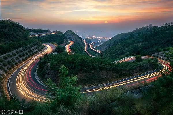 骊山盘山路