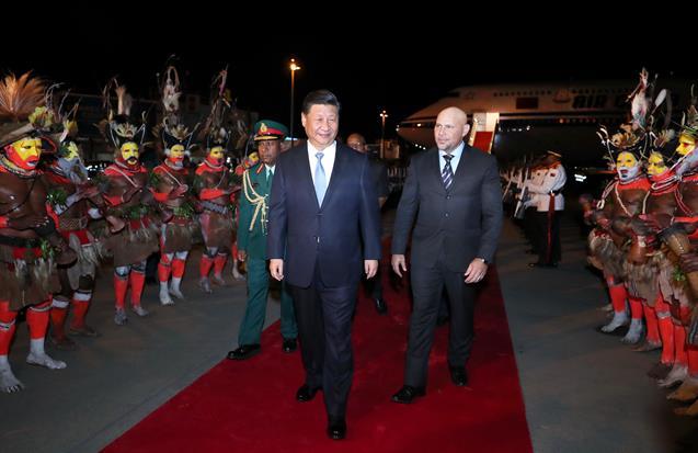 2018年11月15日,国家主席习近平乘专机抵达莫尔兹比港,开始对巴布亚新几内亚独立国进行国事访问、同建交太平洋岛国领导人会晤并出席亚太经合组织第二十六次领导人非正式会议。