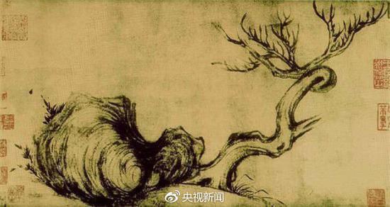 枯木竹石图