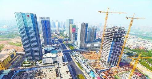 建设中的五通金融商务区。