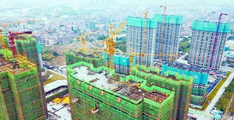 祥平保障房地铁社区项目首栋楼成功实现封顶