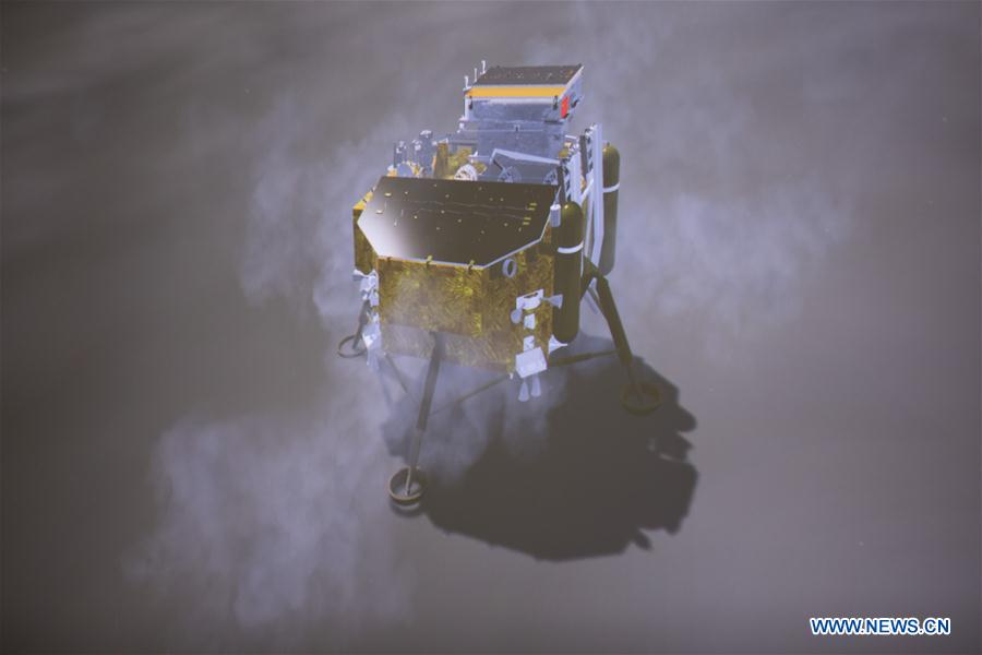 A simulated landing process of Chang