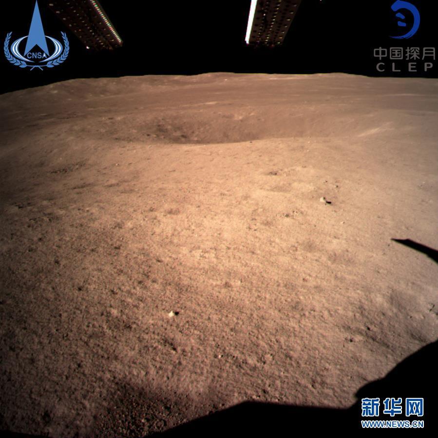 此图片为嫦娥四号着陆器监视相机C拍摄的着陆点南侧月球背面图像,