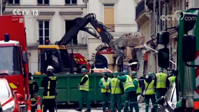 追踪!巴黎市中心爆炸事件遇难人数上升 事发区域完全封闭