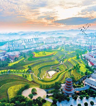 贵州省大方县易地扶贫搬迁安置区奢香古镇。 罗大富摄(人民视觉)