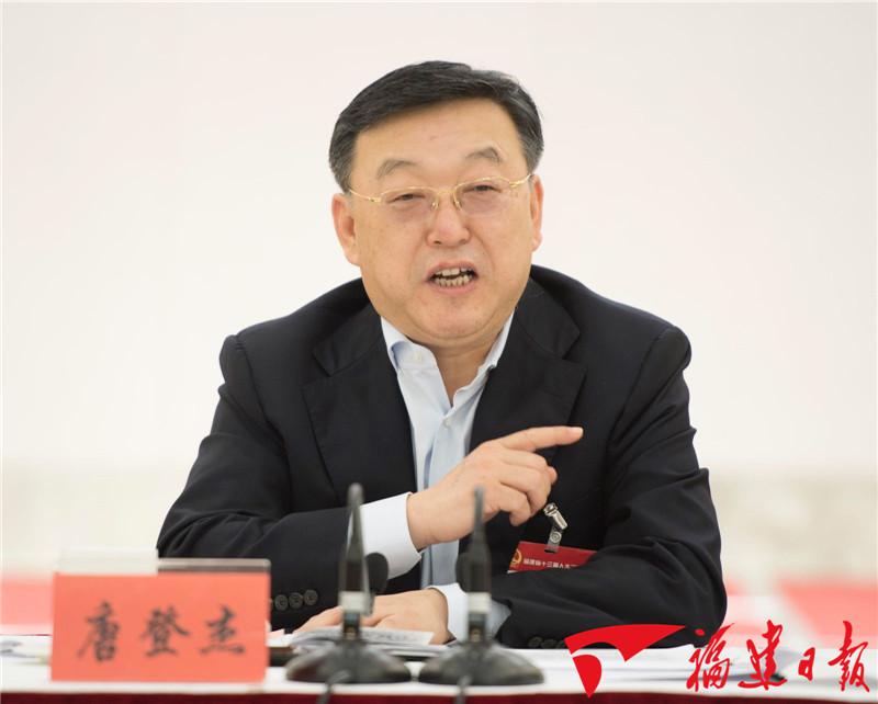 唐登杰参加龙岩代表团审议 福建日报记者 张永定 摄