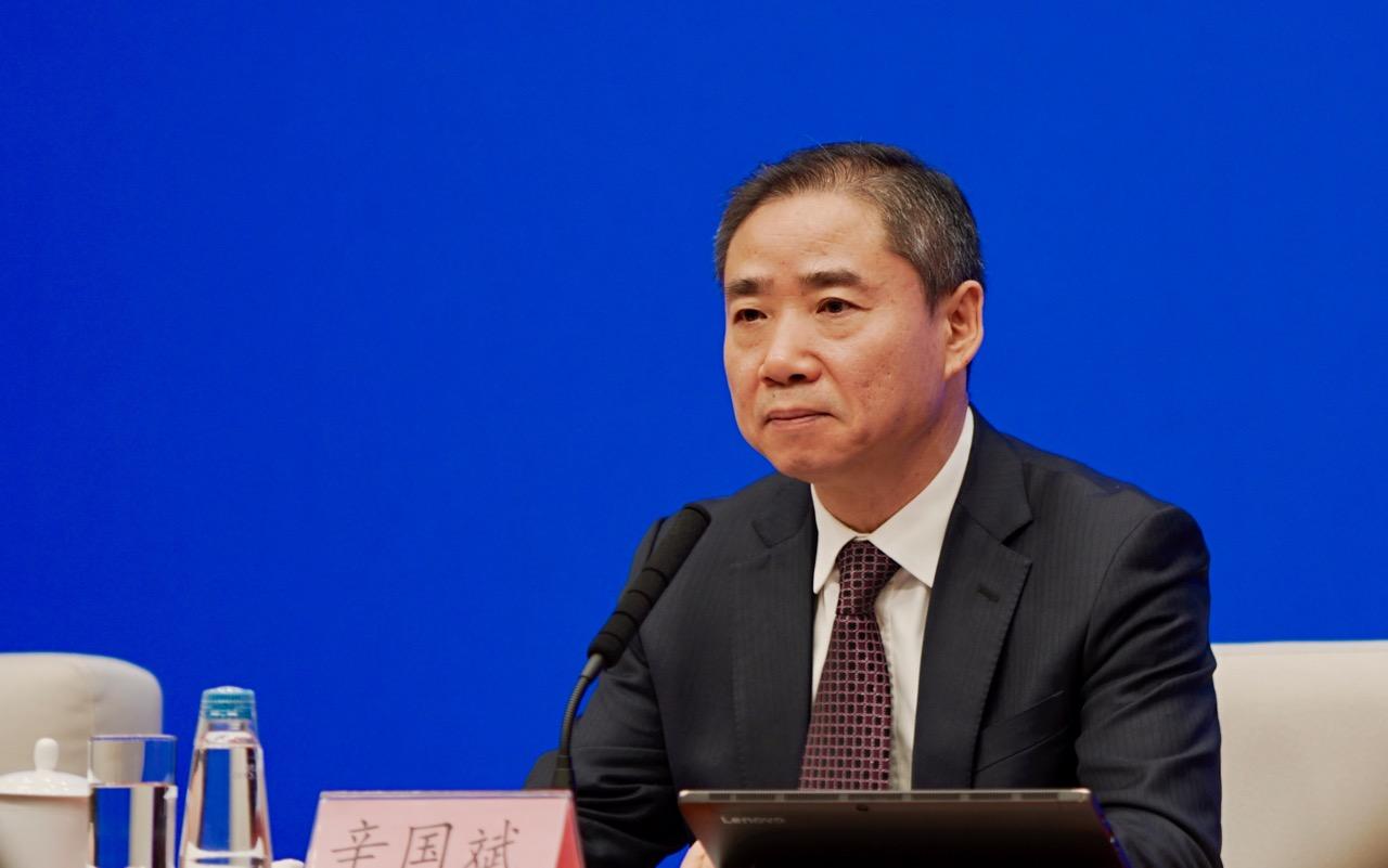 工业和信息化部副部长辛国斌 央视网记者刘亮 摄