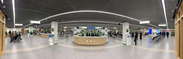 雄安新区政务服务中心(央视记者张淳拍摄)