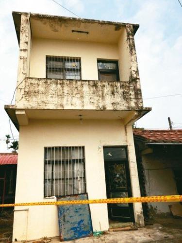 发生爆炸房屋。图片来源:台湾《联合报》 记者 江国豪/翻摄