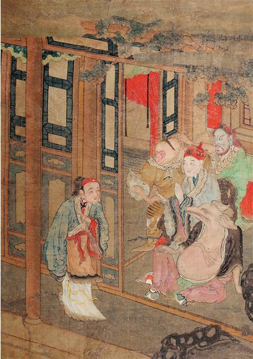 """清 《西游记》画册 37.5×54cm(选自""""家和年丰——猪年生肖文化展"""")"""