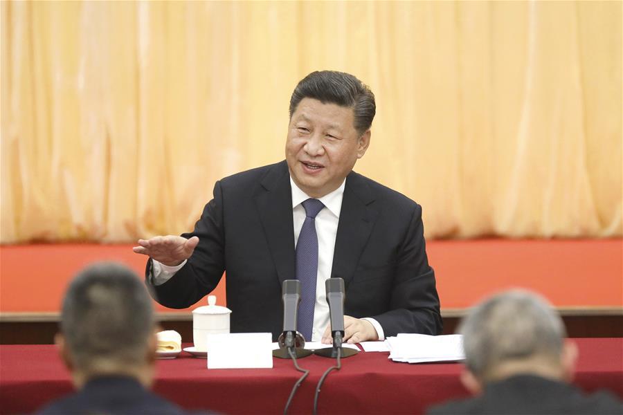 زار الرئيس الصيني شي جين بينغ مستشارين سياسيين من قطاعات الثقافة والفن والعلوم الاجتماعية، الذين يحضرون الدورة الثانية للمجلس الوطني الـ13 للمؤتمر الاستشاري السياسي للشعب الصيني
