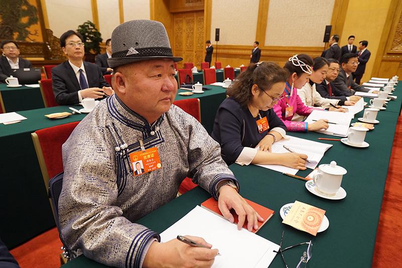 内蒙古代表团会场