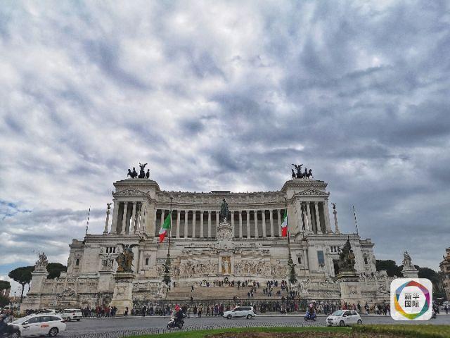 意大利首都罗马市中心景点祖国祭坛。新华社记者王晔摄