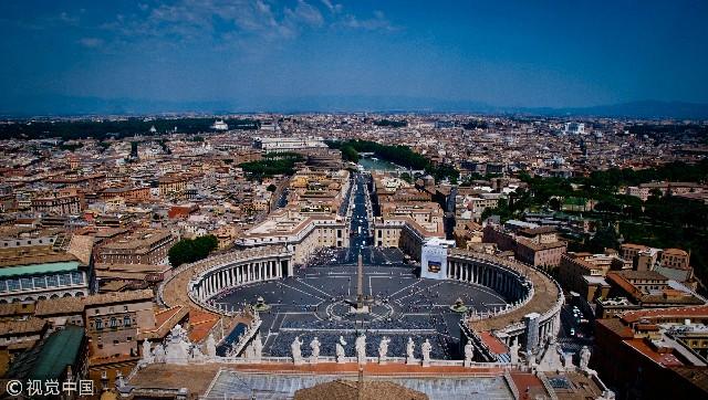 梵蒂冈,从圣彼得教堂俯瞰罗马城