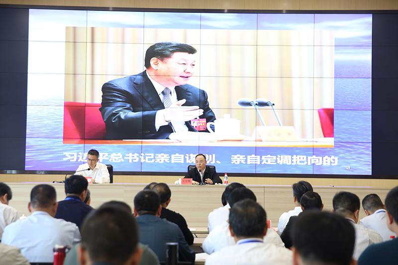 农业农村部党组成员、中央农办秘书局局长吴宏耀为培训班授课