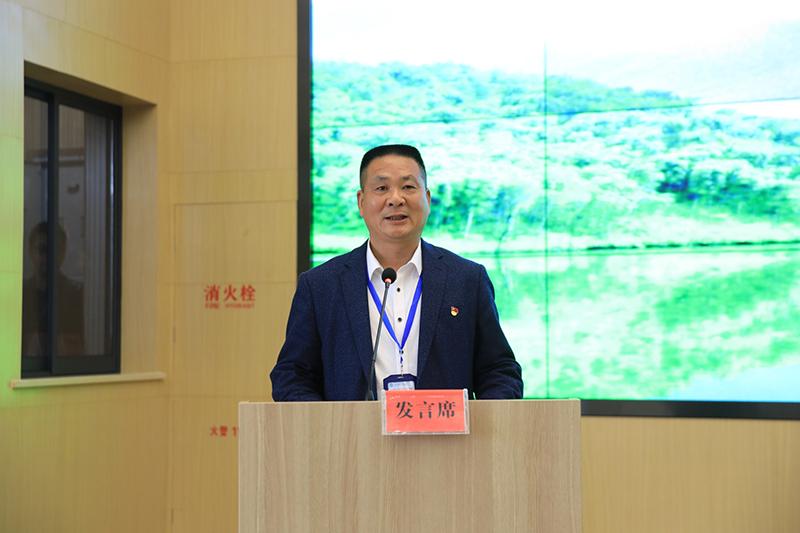 汪衍君代表第一组学员发言