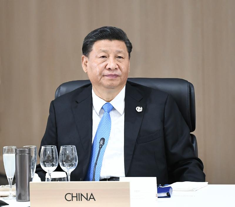 6月28日,二十国集团领导人第十四次峰会在日本大阪举行。国家主席习近平出席并发表题为《携手共进,合力打造高质量世界经济》的重要讲话。新华社记者 谢环驰 摄