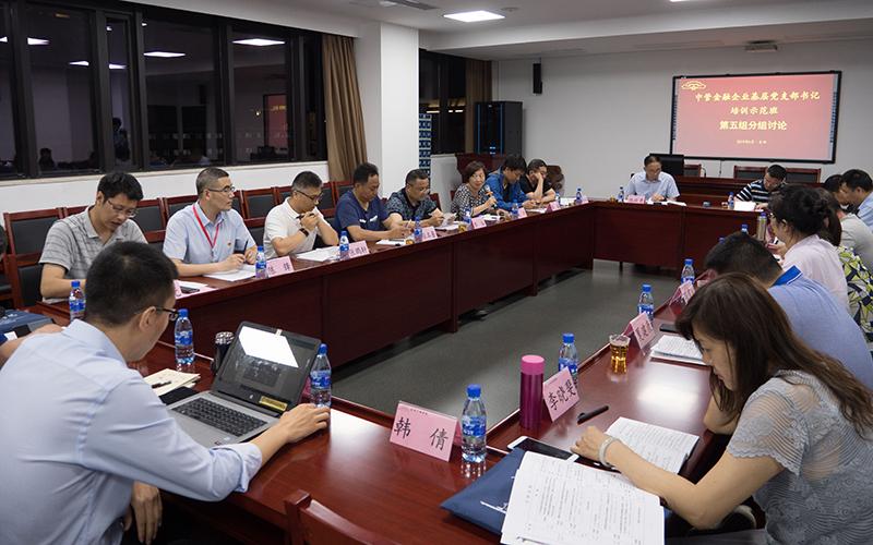 第五组学员在开展分组研讨