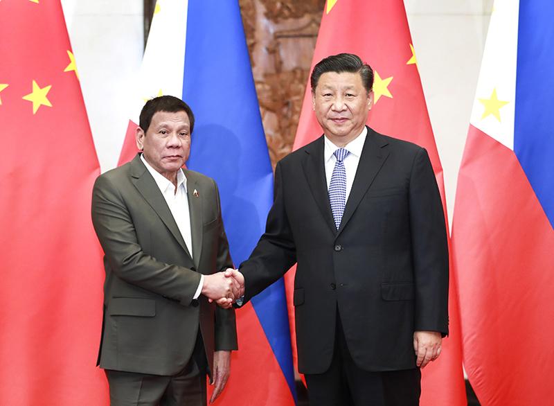 8月29日晚,国家主席习近平在北京钓鱼台国宾馆会见菲律宾总统杜特尔特。