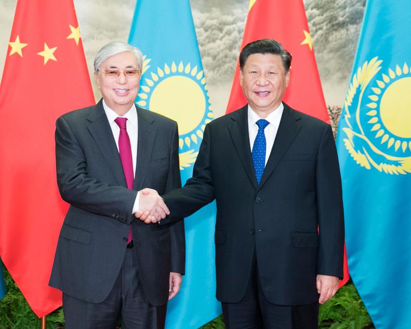 9月11日,国家主席习近平在北京人民大会堂同哈萨克斯坦总统托卡耶夫举行会谈。