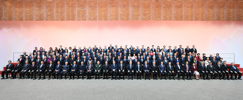 12月19日,国家主席习近平在澳门亲切会见澳门社会各界代表人士并发表重要讲话。新华社记者 谢环驰 摄