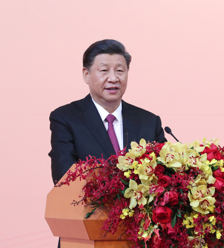 12月19日,国家主席习近平出席澳门特别行政区政府欢迎晚宴并发表重要讲话。 新华社记者 鞠鹏 摄