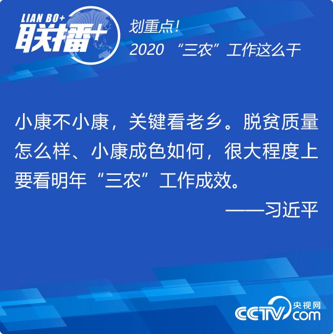 """联播+丨划重点!2020""""三农""""工作这么干"""